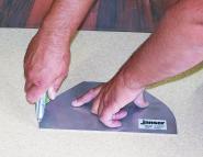 Schablone für Wandprofil 25 mm Radius